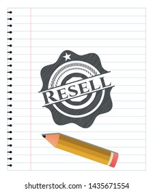 Resell penciled. Vector Illustration. Detailed.