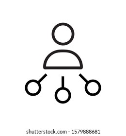 Reseller line icon. Reseller symbol. Outline vector sign. Flat Vector illustration - Vector Linear style pictogram isolated on white. Symbol, logo illustration.