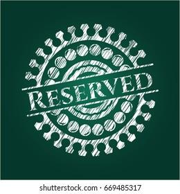 Reserved chalk emblem