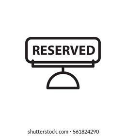 reserved icon illustration isolated vector sign symbol