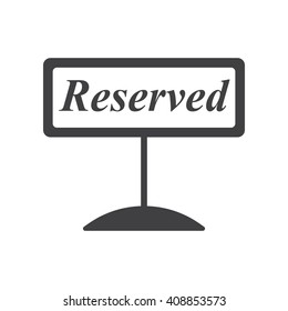 Reserved icon on the white background.