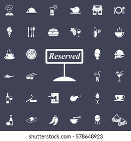 reserved icon. restaurant set of icons