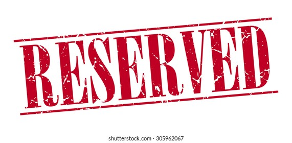reserved red grunge vintage stamp isolated on white background