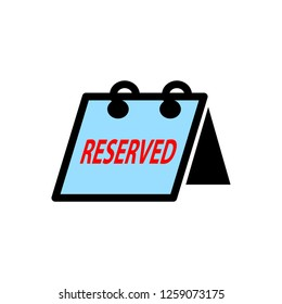 reserved sign icon
