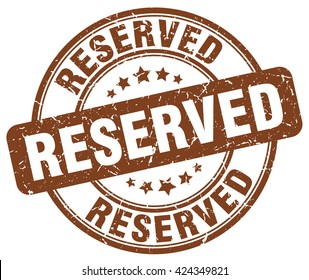 reserved. stamp