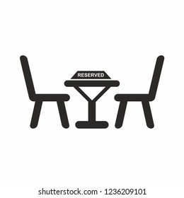 Reserved Table Vector Icon