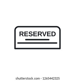 reserved vector icon