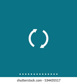 Reset button, reload arrows vector icon.