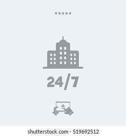 Residence 24/7 - Vector web icon