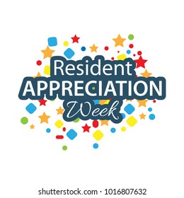 Resident Appreciation Week vector