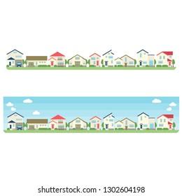 Residential area illustration set