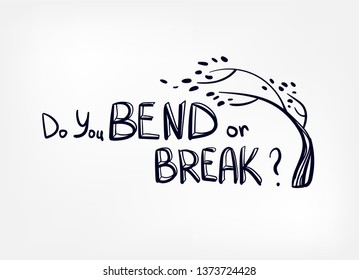 resilience bend or break vector sketch hand drawn illustration line