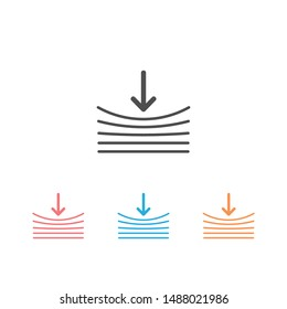 Resilience icon set on white. Vector illustration