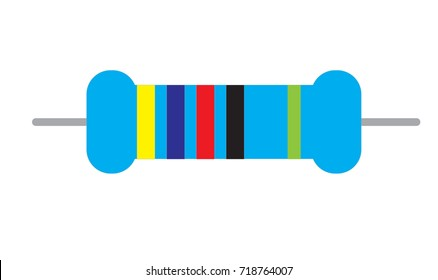 resistor icon on white background. resistor sign. flat style.