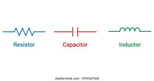 resistors capacitors and inductors symbols passive circuit elements