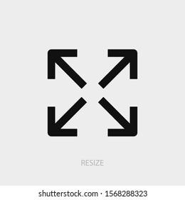 Resize icon. New trendy resize vector illustration symbol.