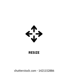 resize icon vector. resize sign on white background. resize icon for web and app