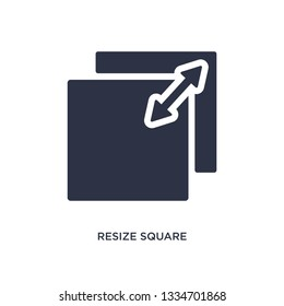 resize square icon. Simple element illustration from measurement concept. resize square editable symbol design on white background. Can be use for web and mobile.