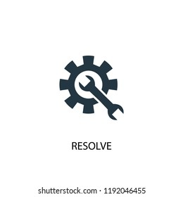 resolve icon. Simple element illustration. resolve concept symbol design. Can be used for web and mobile.