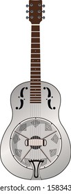 Resonator or Resophonic metal guitar vector. Epiphone Dobro
