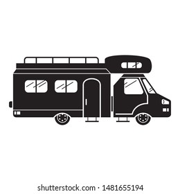 Resort motorhome icon. Simple illustration of resort motorhome vector icon for web design isolated on white background