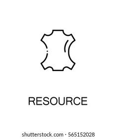 Resource icon. Single high quality outline symbol for web design or mobile app. Thin line sign for design logo. Black outline pictogram on white background