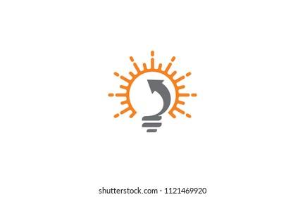 resource light bulbs and sun logo vector icon