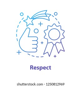 Respect concept icon. Quality idea thin line illustration. Achievement. Best choice. Vector isolated outline drawing