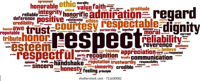 Respect word cloud concept. Vector illustration