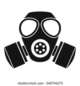 Respirator gas mask icon. Simple illustration of respirator gas mask bread vector icon logo for web