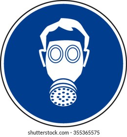 Respirator Must Be Worn Sign
