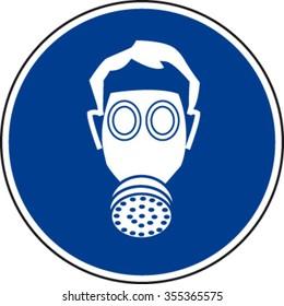 Respirator Must Be Worn Sign