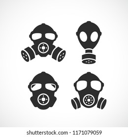 Respirator vector icon set illustration isolated on white background