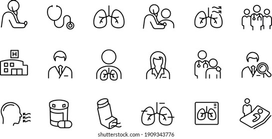 Respiratory Therapy vector design icons