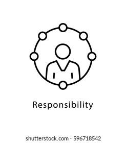 Responsibility Vector Line Icon