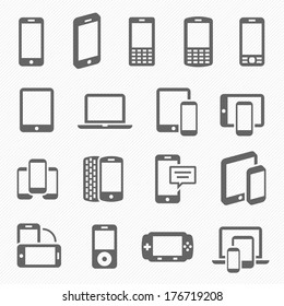 Responsive design icons for computer and technology telecommunication screen vector illustration