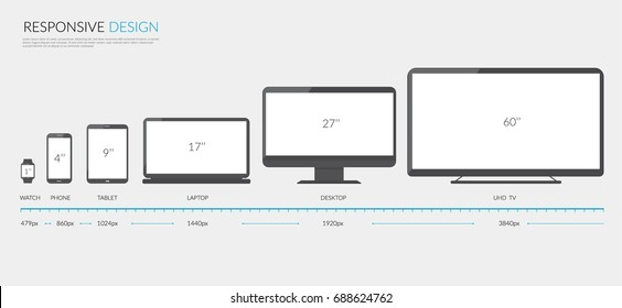 Responsive Design Infographis. Vector illustration