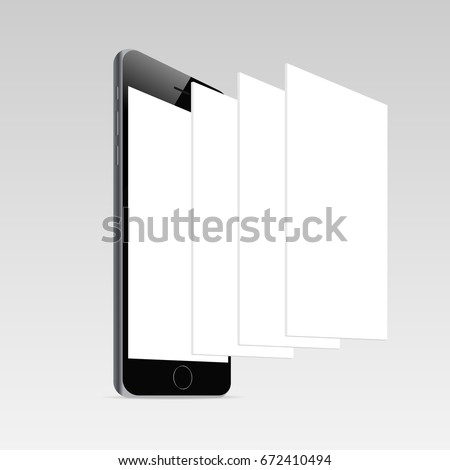 Responsive Mobile Screen Mockup IPhone 6 With Blank And Framework Web Pages