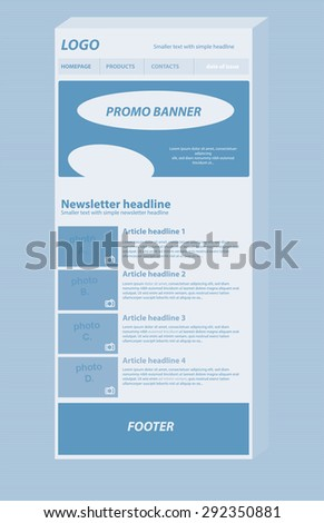 responsive newsletter layout template business nonprofit stock
