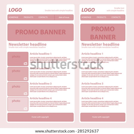 responsive newsletter template business nonprofit organization stock