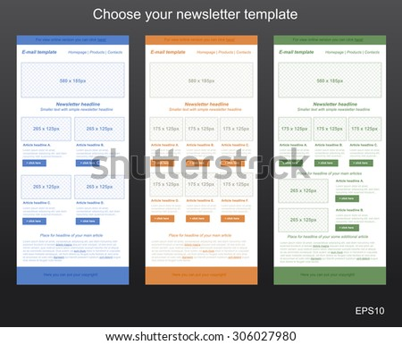 responsive newsletter template business nonprofit organization の