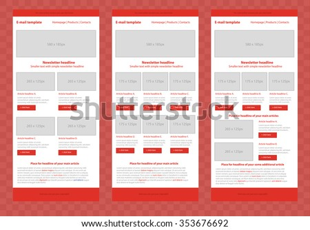 Responsive Newsletter Template Business Nonprofit Organization Image