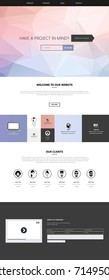 Responsive One Page Website Template with Low-Polygon Background