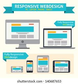 Responsive Web Design - Flat Style Design