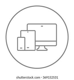 Responsive web design line icon.