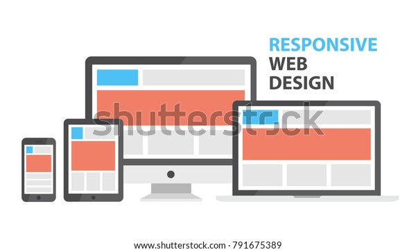 Responsive Web Design Single Site Support Stock Vector Royalty Free 791675389
