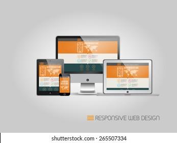 Responsive web design - vector template