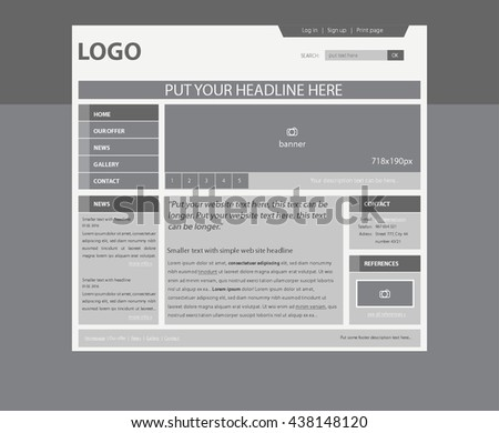 Responsive web layout template business nonprofit stock vector responsive web layout template for business or non profit organization maxwellsz