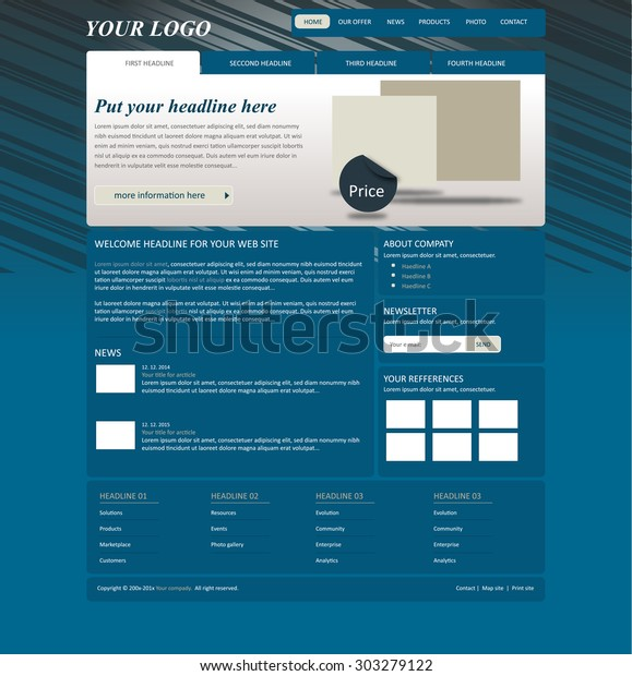Responsive Web Layout Template Business Nonprofit Stock