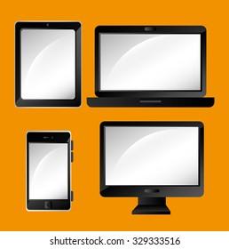 Responsive web and technology design, vector illustration eps10.